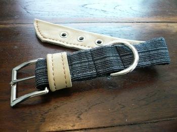 木綿と革の首輪